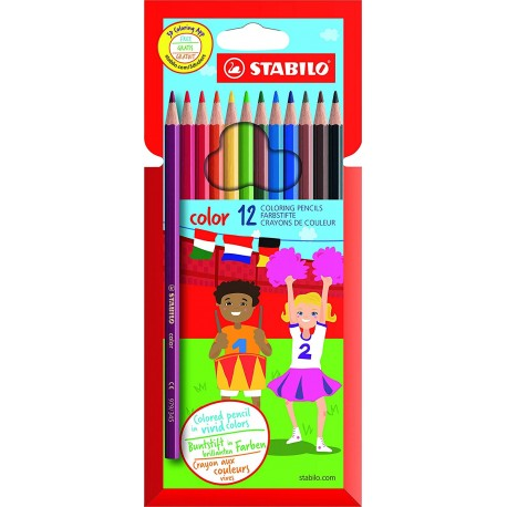 """Crayons coul. /12 (18cm) """"STABILO"""""""