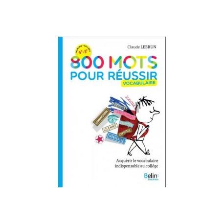 800 MOTS POUR REUSSIR