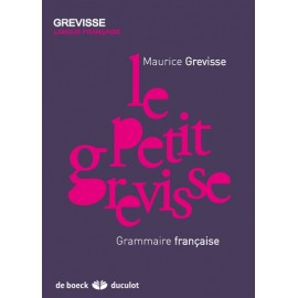 PETIT GREVISSE - Grammaire française